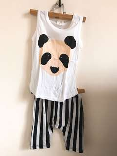 正韓純棉熊貓套裝