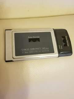 第一代上網卡 Cisco Aironet 340 Series 11 Mbps Wireless Lan Adapter