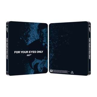 For Your Eyes Only 007 James Bond Limted Edition Steelbook Blu-ray