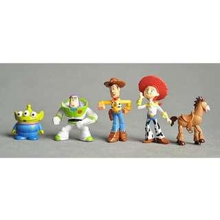 5 pcs Disney Toy Story Cake Topper Figurine Woody Buzz Lightyear Toy Fondant Toppers Figure Birthday Decoration