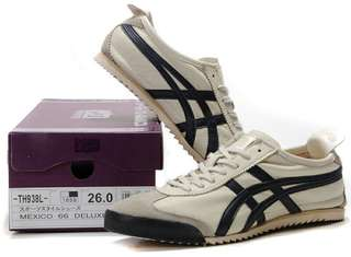 Authentic Onitsuka Tiger (Deluxe) Beige/ Dark Blue
