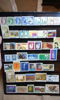 Canada Stamps lot of 42 pieces