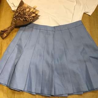 🐰Ulzzang Lilac Blue Tennis Skirt