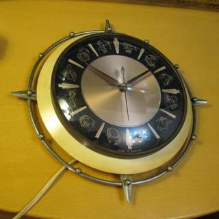 Vintage~Electric Wall Clock~Made in English 英國電鐘/時鐘