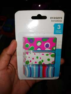 Erasers 3 ct