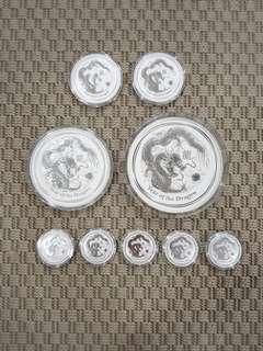 Perth Mint 2012 Lunar Dragon Silver Coin