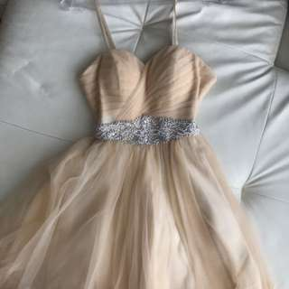 Champagne Colour Graduation Prom Dress