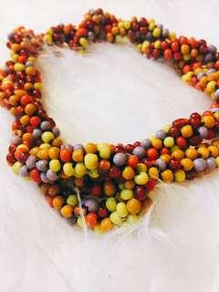 🚚 彩色手工串珠長項鍊