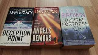 Dan Brown, Chris Ryan $ Tom Clancy books.