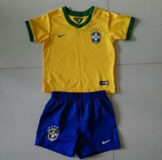 Kids Brazil 2014 soccer jersey by Nike