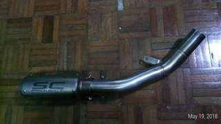 Muffler and link pipe
