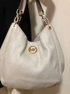 Authentic MICHAEL KORS Pebbled Leather Fulton bag Large