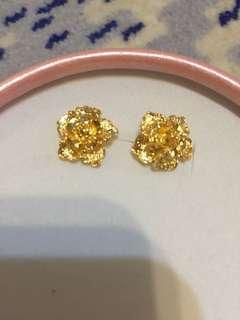 婚後物資-仿金耳環
