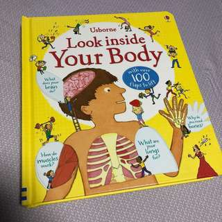 PO: Look inside your body (with 100 over flaps) educational book for children