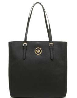 MINT CONDITION- Authentic MICHAEL KORS Saffiano Leather Jet Set travel tote in black