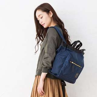 💯 <LH-F1052 >LEGATO LARGO 10 POCKET 2 WAY TOTE BACKPACK- NAVY