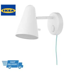 IKEA FUBBLA Wall lamp, white FAST DELIVERY