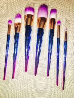 Unicorn metallic 7 piece brush kit fantastic quality