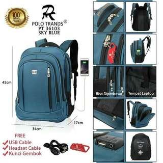 Tas P0L0 Trands Ransel Laptop  36103  (11)*