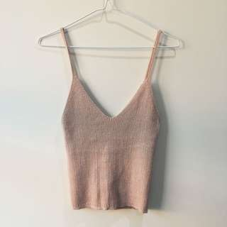 Super Metallic Knit Singlet