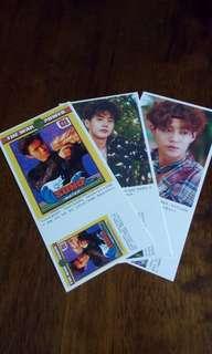 exo postcards (chanyeol, baekhyun, d.o/do/kyungsoo, suho, xiumin/minseok, chen)
