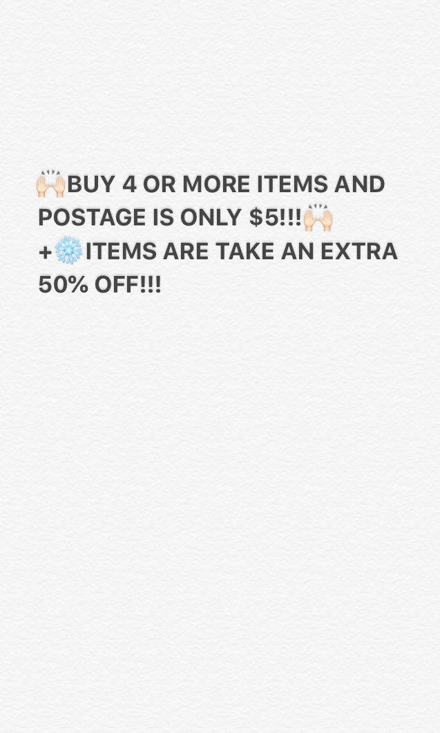 $5 postage and 50% off ❄️ items!!!