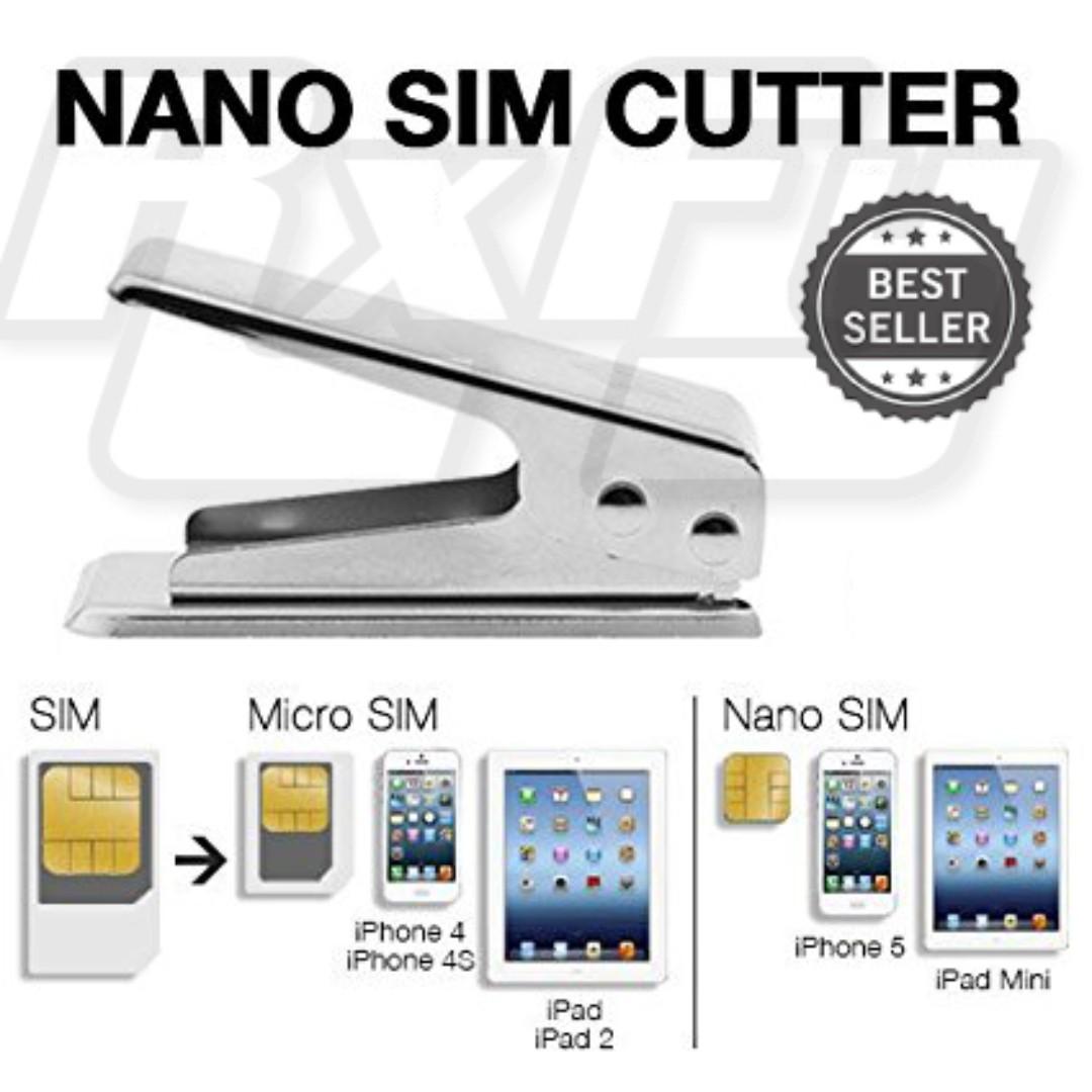 All in One Nano Sim Card Cutter Cut iPhone Samsung Xiaomi