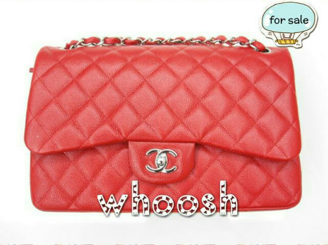 8867485cba2b NO TRADES* Chanel Jumbo Flap 14C Red Caviar Bag SHW, Luxury, Bags ...