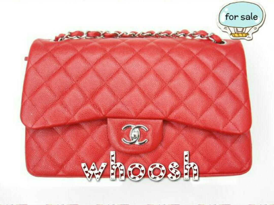 5e74f2d69ada NO TRADES* Chanel Jumbo Flap 14C Red Caviar Bag SHW, Luxury, Bags ...