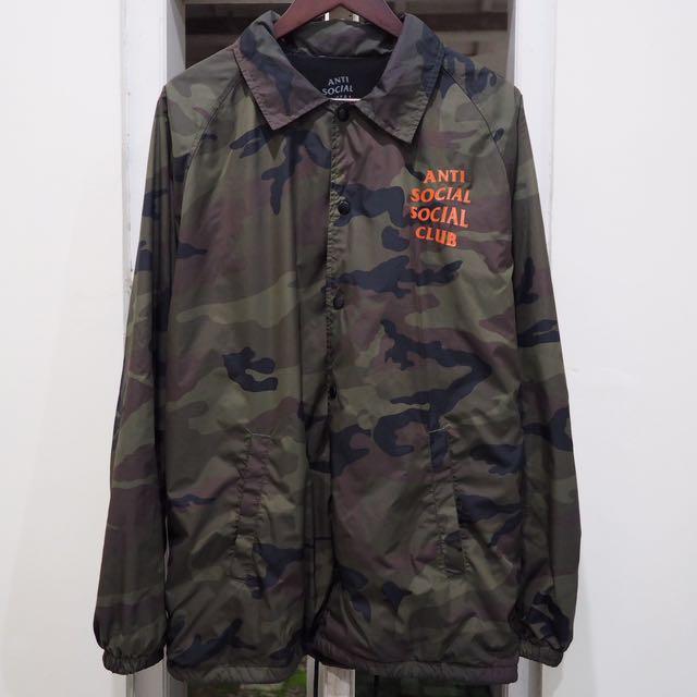 fabca0e7ee55 Coach jacket camo anti social social club (assc) size L