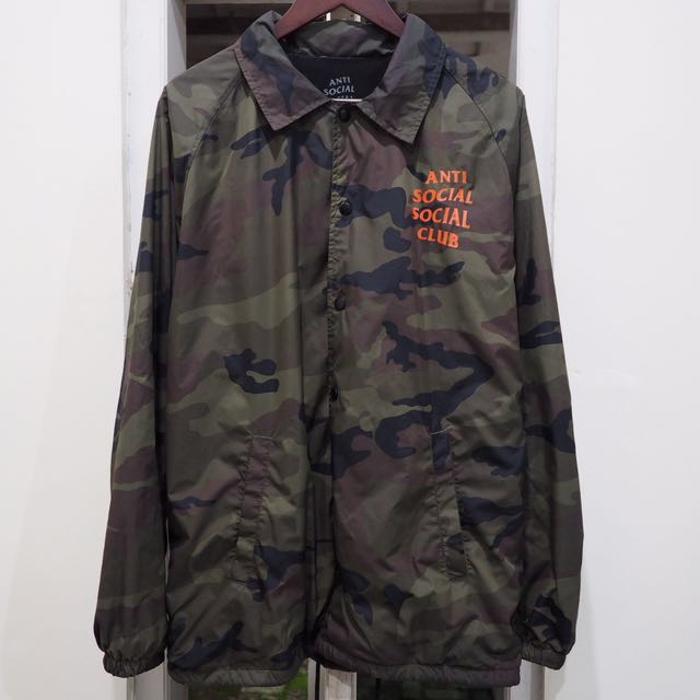 2753e3a0b120 Coach jacket camo anti social social club (assc) size L