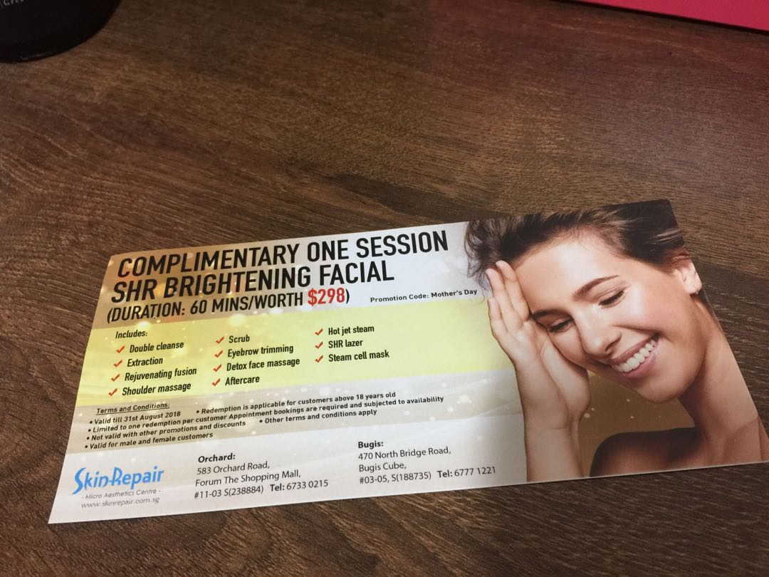 Complimentary facial from skin repair, Health & Beauty, Face