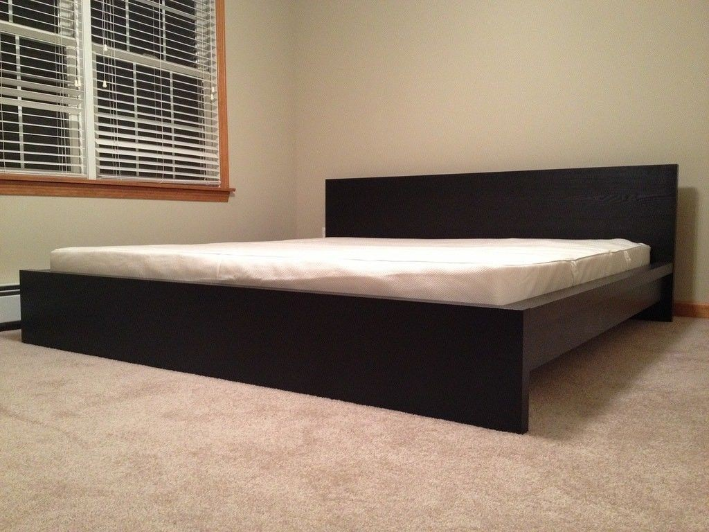 Ikea Malm Black Brown King Size Bed Frame With Mattress Furniture Beds Mattresses On Carousell