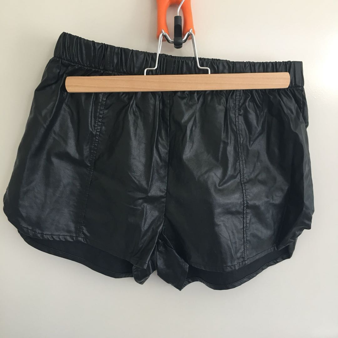General Pants Leather Shorts