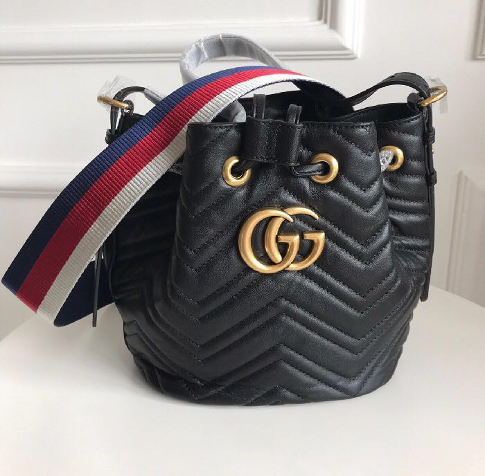 "6c8b36874919 Gucci ""GG Marmont"" quilted leather bucket bag, Women's Fashion ..."
