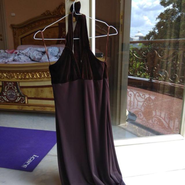 Halter brown dress