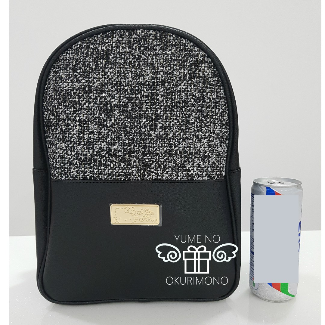 ca9a4673dd1 Hello Kitty - Tweed Backpack (Black) (Only sold in Japan), Women s Fashion,  Bags   Wallets, Backpacks on Carousell