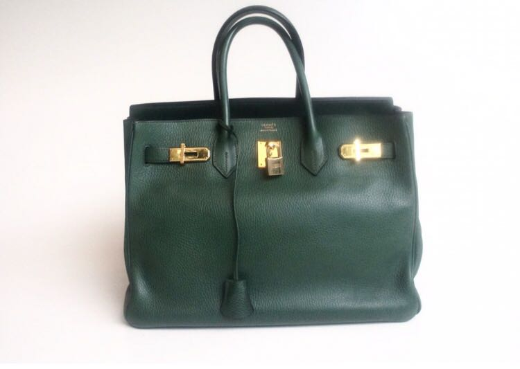 Hermes Birkin 35 vert bengale  B NO REC, Luxury, Bags   Wallets, Handbags on  Carousell 33de8088d2