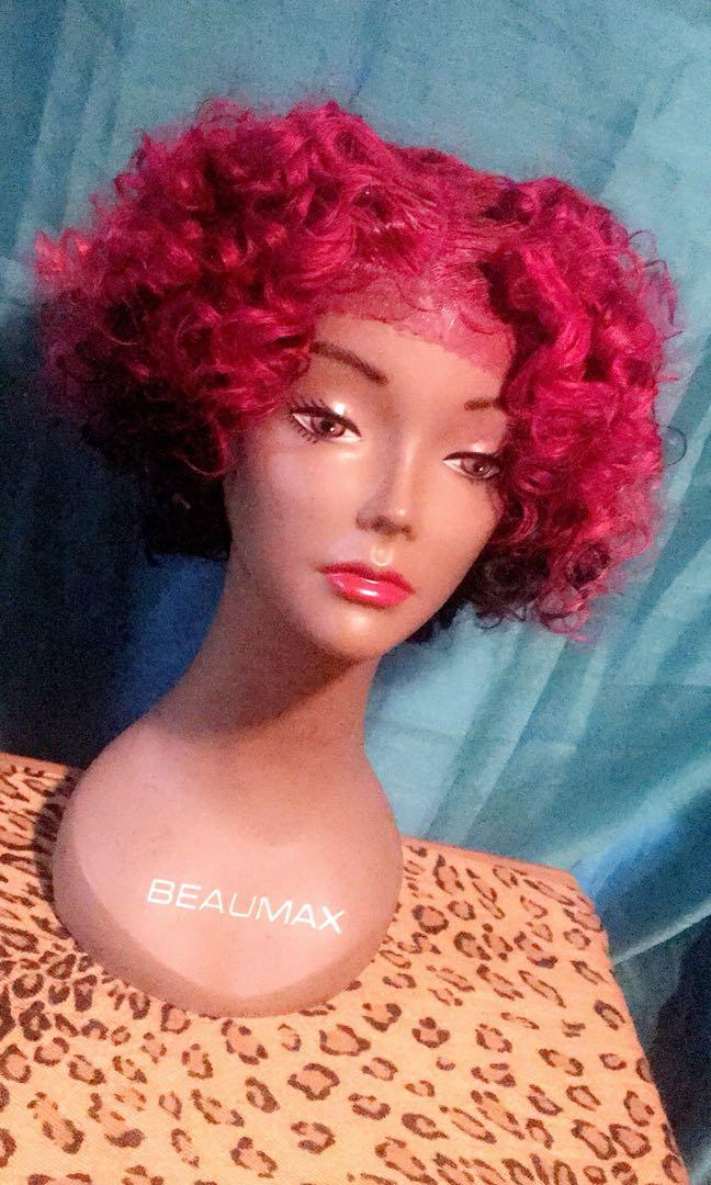 Human hair .. pink and black