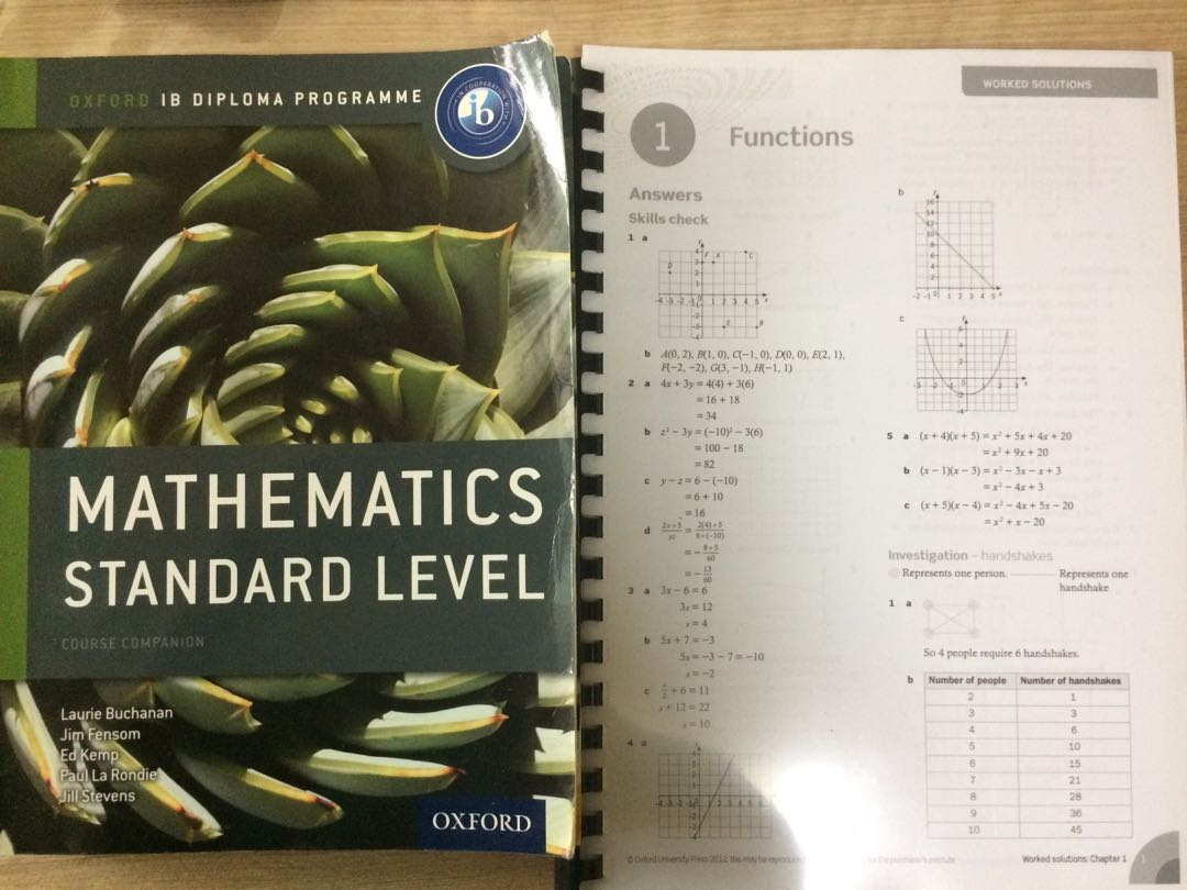 IB Math SL Oxford Textbook and worked solutions + Question Banks + ...