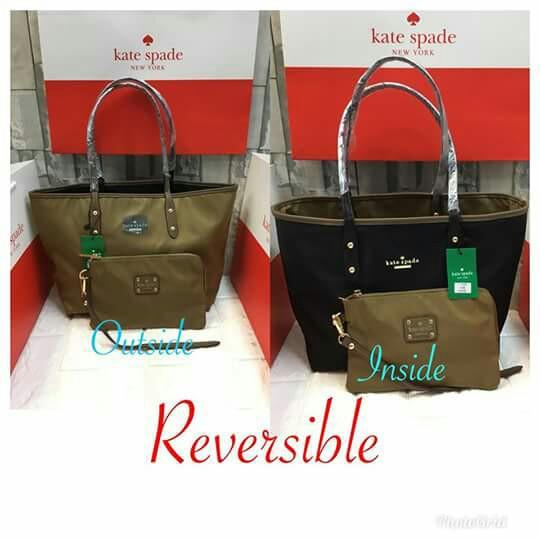 a62d1e164d Kate spade ♤ reversible hand bag shoulder bag +pouch