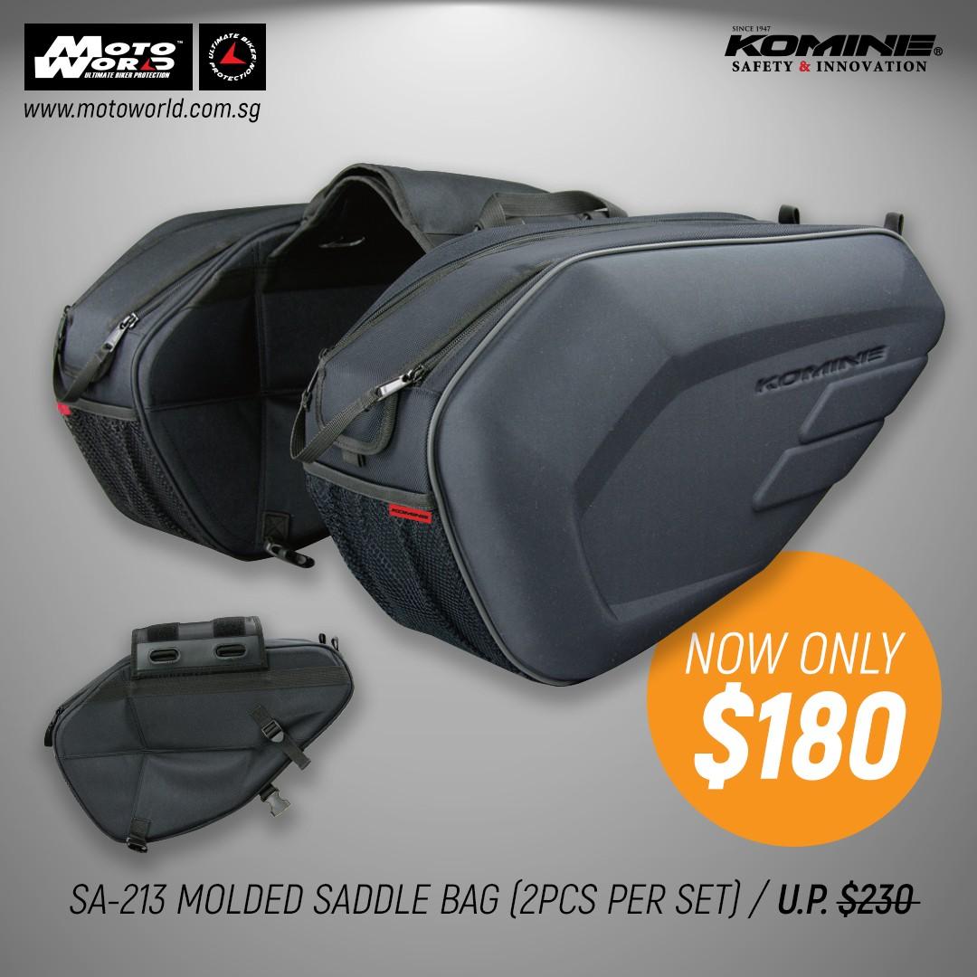 Komine SA-213 Molded Saddle bags eb30da06229f4