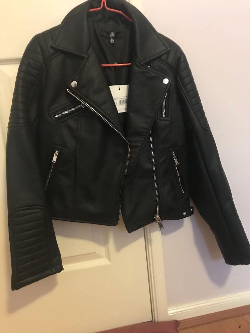 Leather missguided jacket