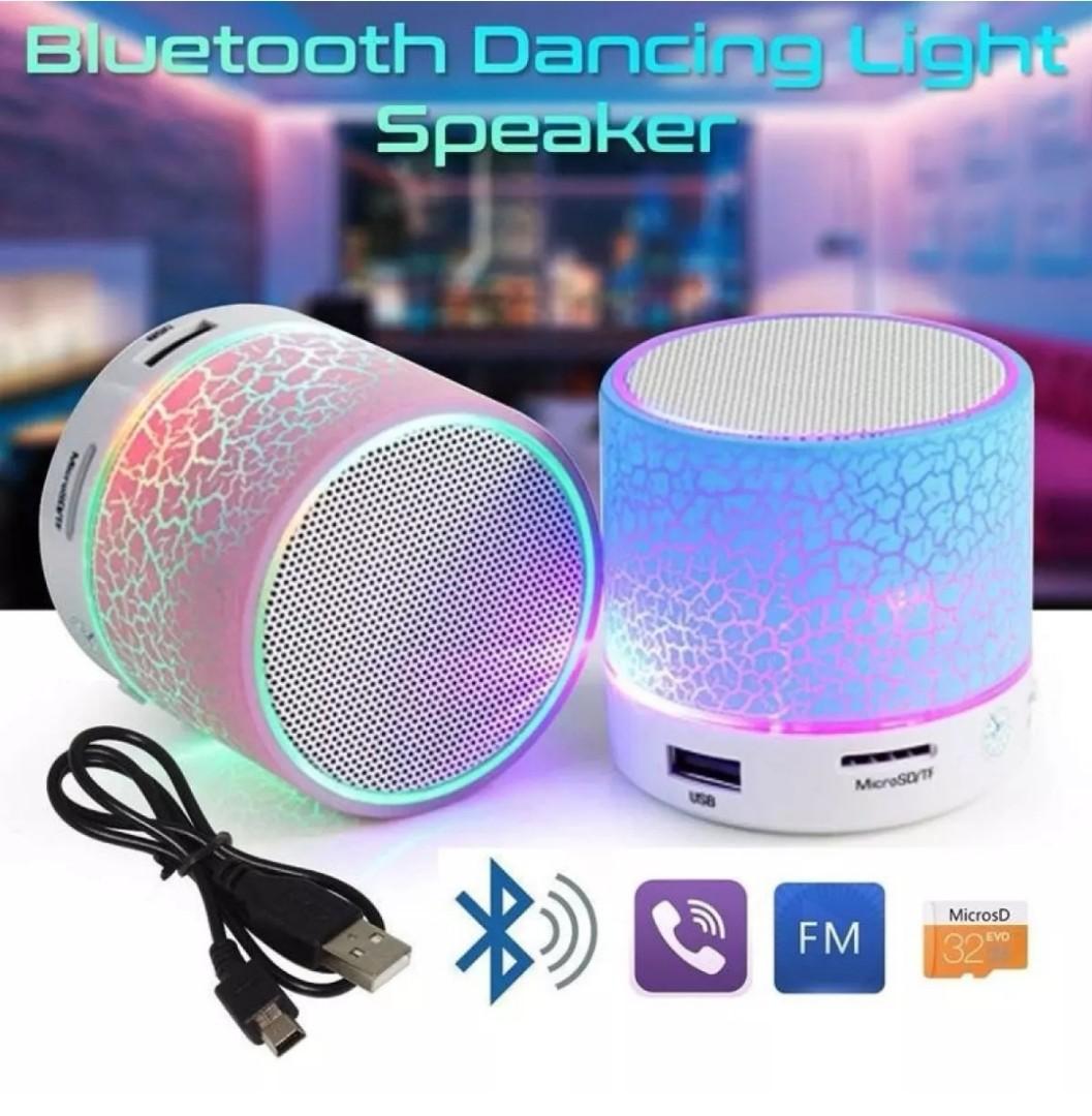 Led Portable Mini Bluetooth Speakers Wireless Electronics Audio On Waterproof Speaker Bts 06 Original Photo