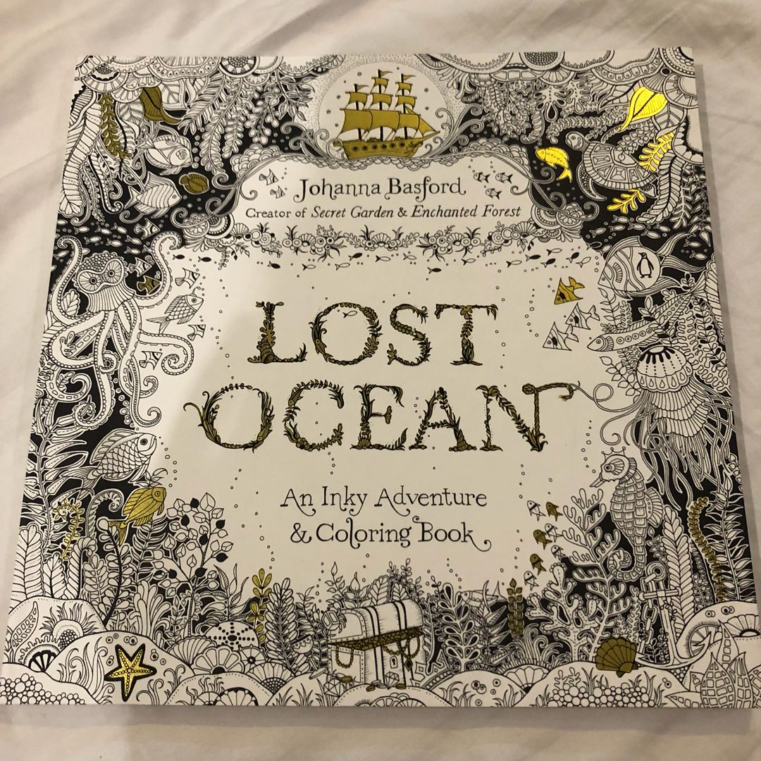 Lost Ocean Johanna Basford Adult Coloring Book Books On