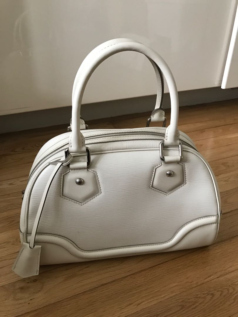 baacf309c38f Louis Vuitton epi white leather