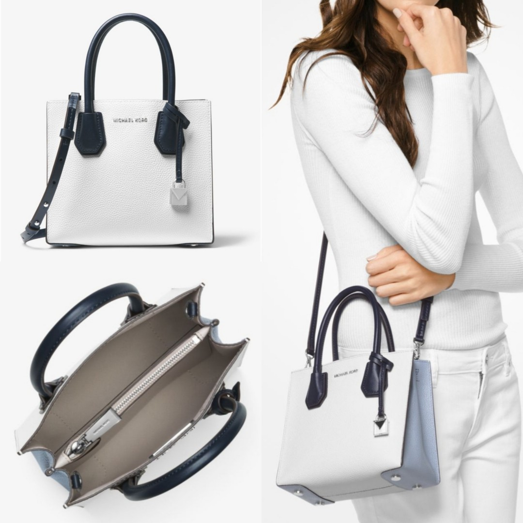 Authentic Michael Kors Mercer Color Block Leather Crossbody Womens Satchel Fashion Bags Wallets Handbags On Carousell