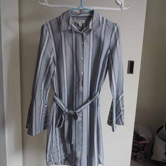 Miss Selfridge Bell Sleeved Shirt Dress