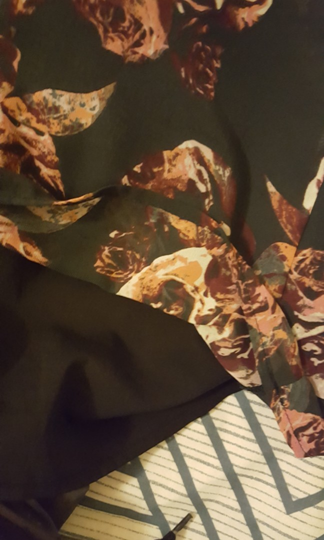 Neon hart grunge floral slip on dress