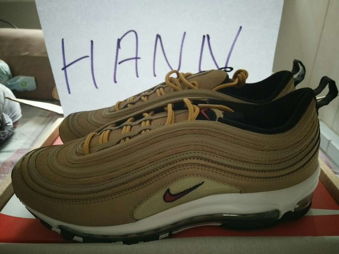 quality design 08bd8 34911 Nike Air Max 97 2017 OG QS Metallic Gold & Varsity Red US10